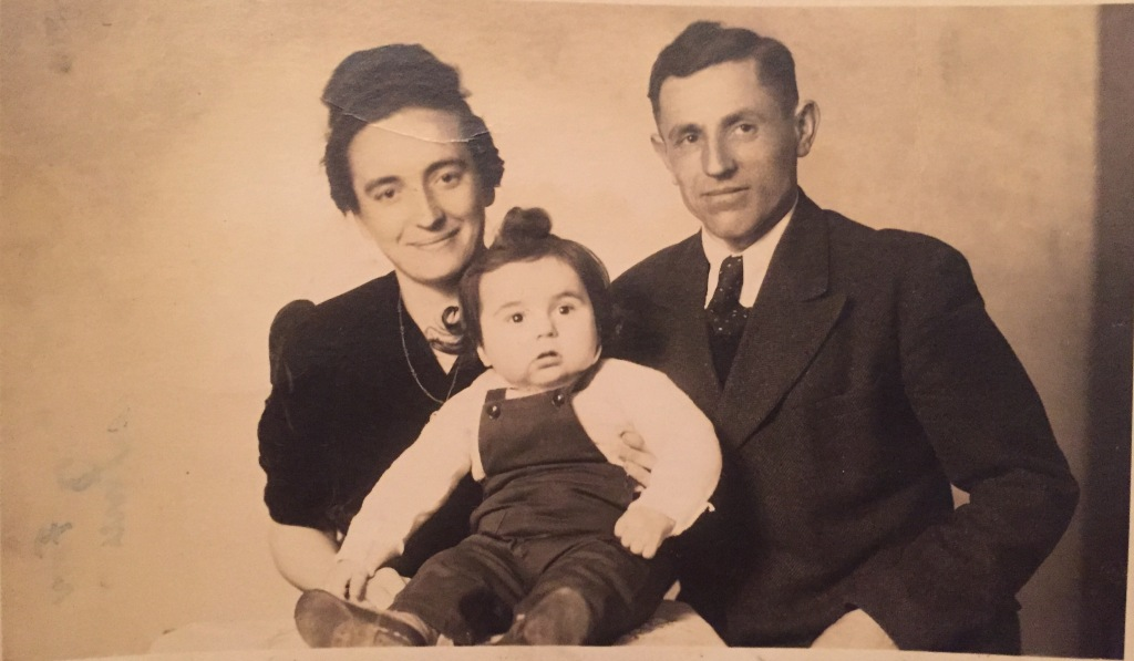 My dad with his parents