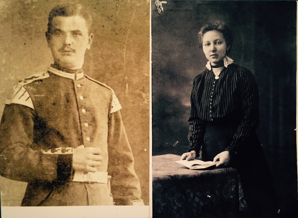 my great grandfather on the left and my great grandmother on the right.